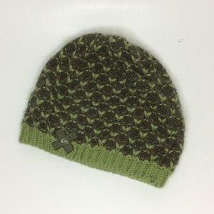 Quicksilver Green Knit Soft Beanie OS